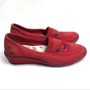 Red hat society grasshoppers by keds slip on sz 9M